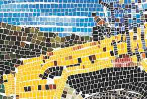 Laying Tiles Art Mosaic